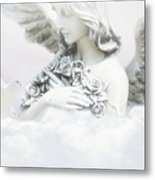 Angel And Dove Metal Print