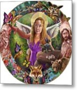 Angel And Fox Metal Print