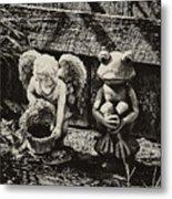Angel And Frog Metal Print
