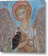 Angel And Owl Metal Print