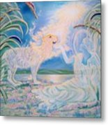 Chloe The Flying Lamb Productions.            Ask The Beasts And They Will Teach You. Metal Print