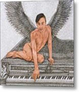 Angel And The Piano Metal Print