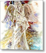 Angel At The Cross Metal Print