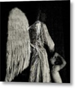 Angel Bw Metal Print