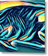 Angel Fish In Turquoise Tones Metal Print