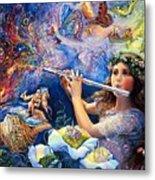 Angel Flute Metal Print