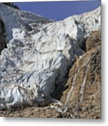 Angel Glacier Metal Print