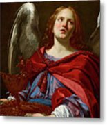 Angel Holding The Vessel And Towel For Washing The Hands Of Pontius Pilate Metal Print