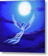 Angel In Blue Starlight Metal Print