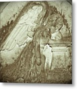 Angel In Grief Metal Print by Yurix Sardinelly