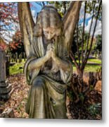 Angel In Prayer Metal Print
