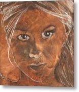 Angel In Process Head Detail Metal Print