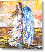 Angel In The Wind Metal Print