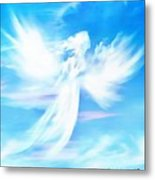 Angel In Thick Paint Metal Print