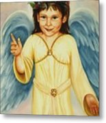Angel In Yellow Metal Print