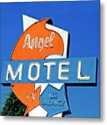 Angel Motel Metal Print