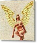 Angel Of Love By Mb Metal Print