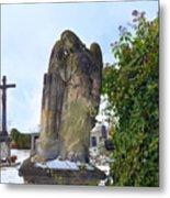 Angel On Graveyard Metal Print