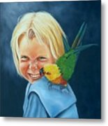 Angel On My Shoulder Metal Print