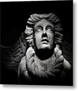 Angel On The Wall Metal Print