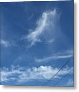Angel Over Two Notch Road Metal Print