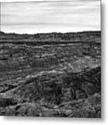Angel Peak Badlands, Bloomfield, New Mexico, Illuminated By A Cl Metal Print