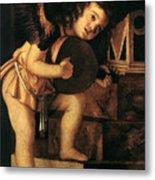 Angel Playing Music Metal Print
