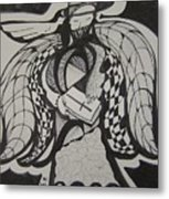 Angel Receiving Prayer Metal Print