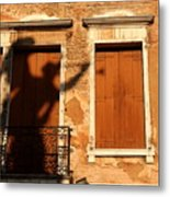 Angel Shadow In Venice Metal Print