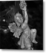 Angel Statue Hanging On Metal Print