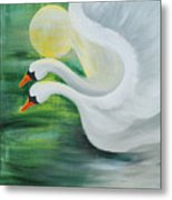 Angel Swans Metal Print
