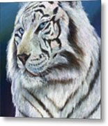 Angel The White Tiger Metal Print