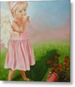 Angel Thumbs Metal Print