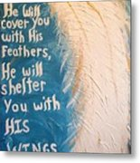 Angel Wing Psalms 91 4 Metal Print