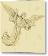 Angel With Arms Spread Metal Print