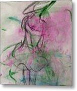 Angel With Pink Wings Metal Print