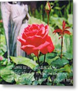 Angel with Roses 2 Metal Print