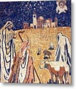 Angel With Shepherds Metal Print