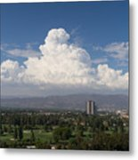 Angeles National Park And Lakeside Golf Club In Southern California Dsc3585sq Metal Print