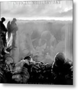 Angels And Brothers Black And White Metal Print