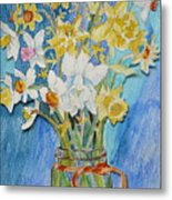 Angels Flowers Metal Print