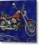 Angels Harley - Oil Metal Print