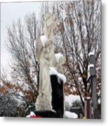 Angels In The Winter Metal Print