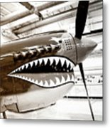 Anger Management Bw Palm Springs Air Museum Metal Print