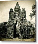 Angkor Thom Southern Gate Metal Print