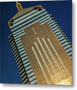 Angled View Of Central Plaza At Sunset Metal Print