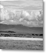 Anglesey Farmland And Distant Hills North Wales Uk Metal Print