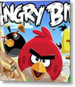 Angry Birds Metal Print
