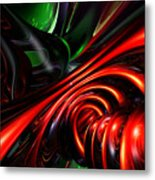 Angry Clown Abstract Metal Print