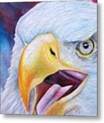 Angry Eagle Metal Print